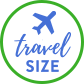 Travel size badge